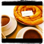 Some more churros, this time with delicious hot chocolate, in Marbella
